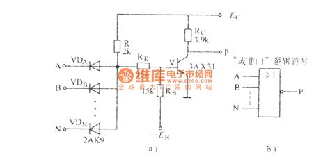 nor gate transistor diagram diode transistor nor gate basic circuit circuit diagram seekic