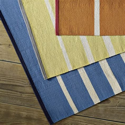 Cotton Striped Rugs by Gradated Stripe Cotton Rug Citron West Elm