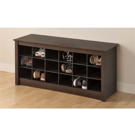 entrance shoe storage bench prepac entryway shoe storage cubbie bench espresso ess 4824