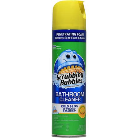 Scrubbing Bubbles Antibacterial Lemon Bathroom Cleaner 22 Oz Walmart Com
