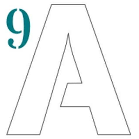 printable 9 inch letter stencils 1 to 12 inch stencil letters to print stencil letters org
