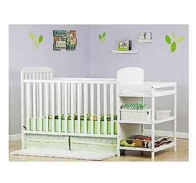 Baby Bed And Changing Table Combo 2 In 1 Crib Nursery Baby Convertible Changing Table Toddler Bed Combo Bobbie Jo S One Stop Shop