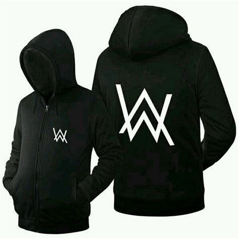 Kaos Pull Hitam sweater alan walker sweater dj allan walker hitam
