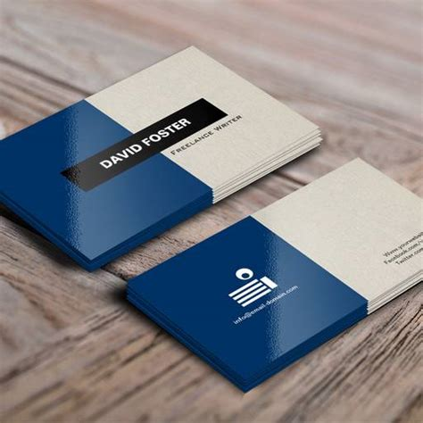 freelance business card template freelance writer simple stylish business cards
