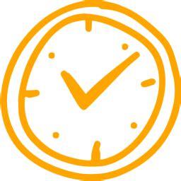 orange time  icon  orange time icons