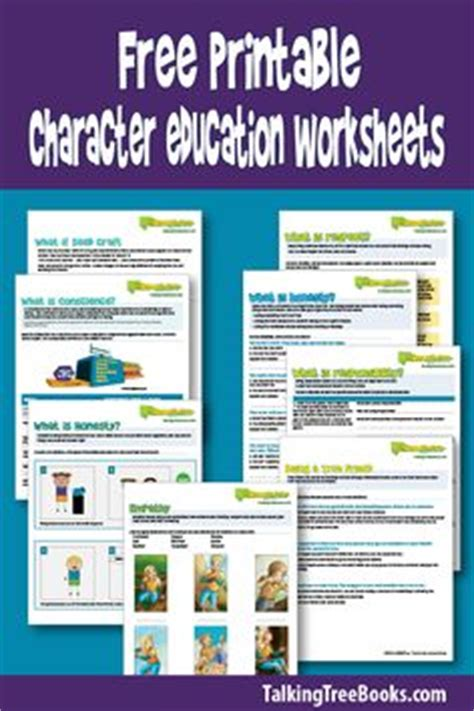 what is honesty character building worksheets social and