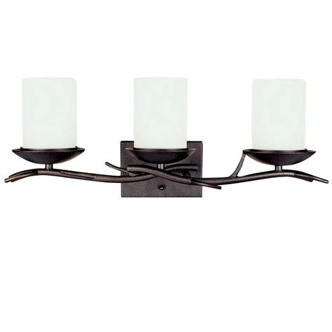 Vanity Lights At Lowes shop bel air lighting 3 light rubbed bronze bathroom