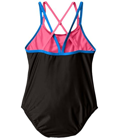Speedo One Piece Swimsuit Kids | speedo kids crossback one piece swimsuit big kids at
