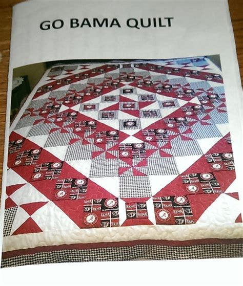 Alabama Quilts by Alabama Crimson Tide Quilt Pattern With Sewing By Missbeaquilt