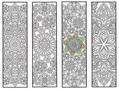 printable mandala bookmarks coloring bookmarks advanced flower mandalas page 2