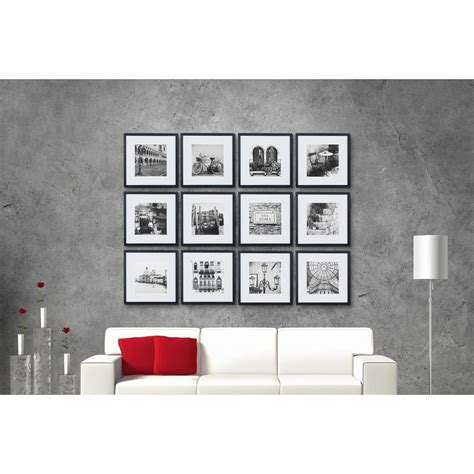 wall collage frame set gallery 8 in x 8 in black collage