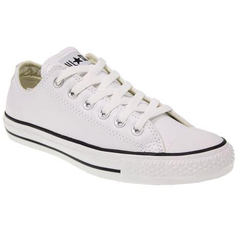 converse all chuck mens womens 1q550 white leather
