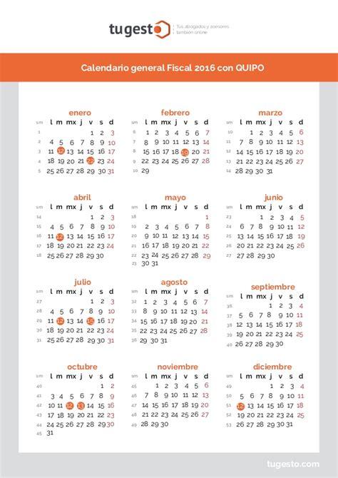 Calendario Fiscal Calendario Fiscal 2016