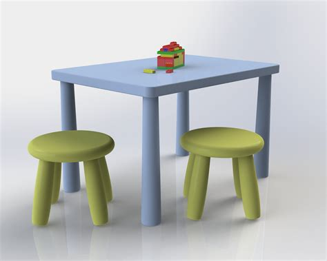 Table And Chairs Mammut mammut chairs and table free 3d model sldprt sldasm