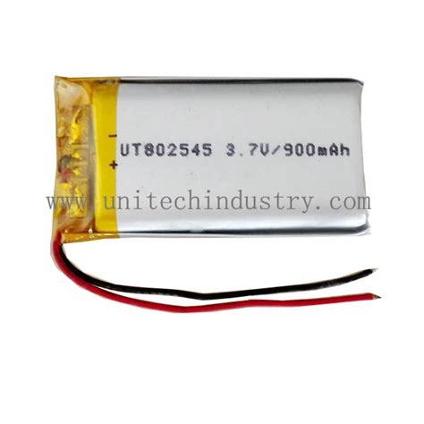 Battery Li Polymer 3 7v 900mah rechargable lithium polymer battery 802545 3 7v 900mah