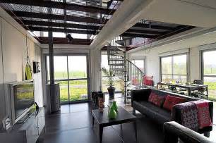 shipping container homes interior a two story house made of eight shipping containers with a modern interior design