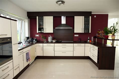 Pictures Of Kitchens Modern Two Tone Kitchen Cabinets Two Wall Kitchen Design