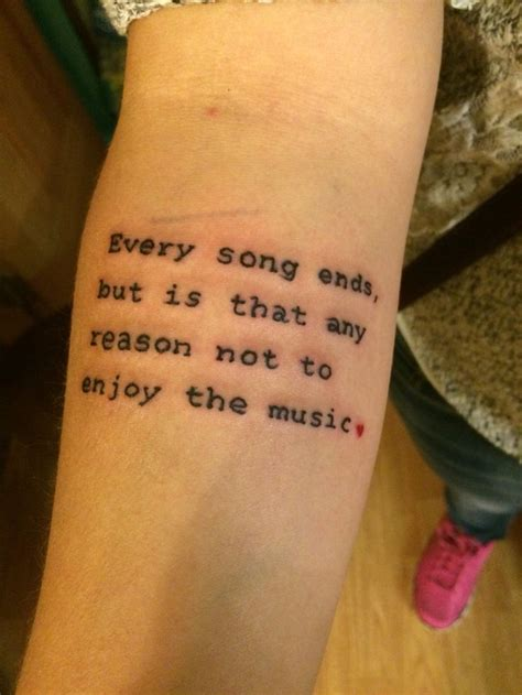 tattoo song lyrics best 20 matching quote tattoos ideas on