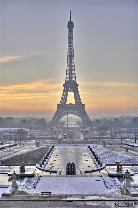 paris pictures paris in winter good morning eiffel tower 0173 hdr