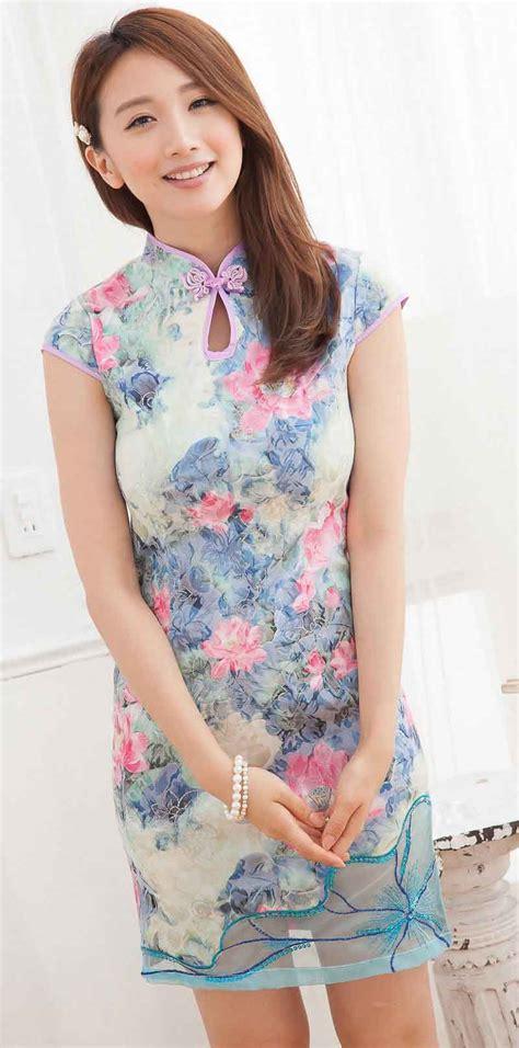 jual cheongsam baju cheongsam wanita modern import murah model terbaru