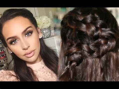 half up half down hairstyles tutorial youtube half up half down wavy braided hair tutorial youtube