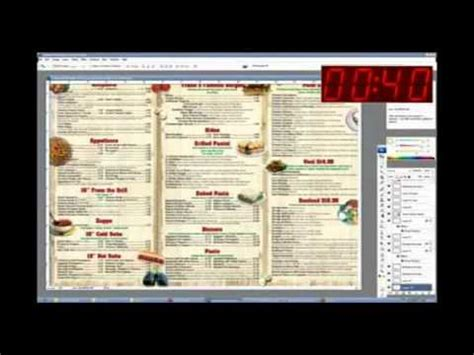 abc expanded menu layout xml how to make restaurant menu design within 2 hours youtube