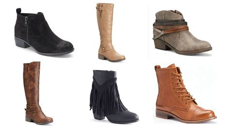 kohl s s boots only 16 17 after discounts and kohl