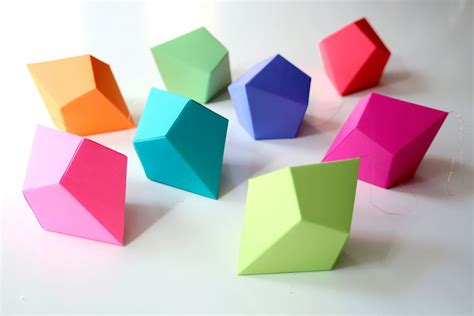How To Make Paper Geometric Shapes - stickytiger the top three crafts for 2015