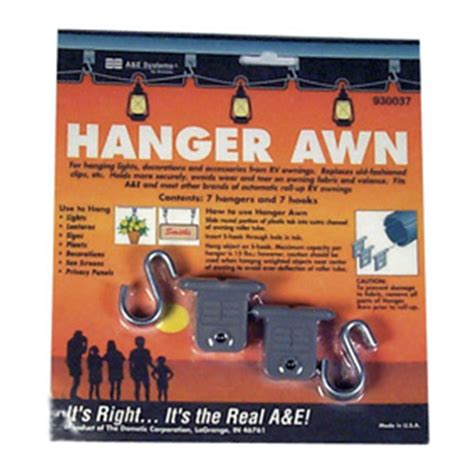 a e systems awnings a e systems awning hangers 156699 rv awnings at sportsman s guide
