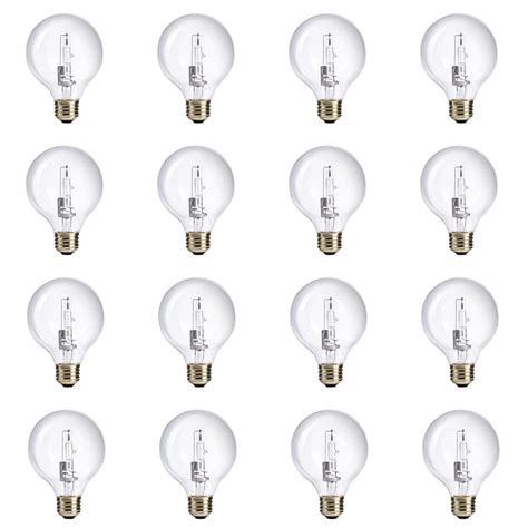 60 watt clear globe light bulb philips 60 watt equivalent g25 halogen clear globe light