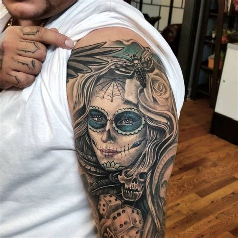 90 Best Day Of The Dead Tattoos Designs Meanings 2018 Daring Images Of Day Of The Dead Tattoos