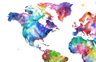 Watercolor World Map by Items Similar To 20x30 Watercolor Map Print World Map