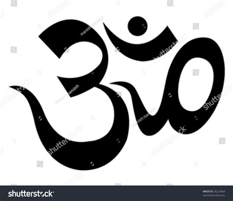 Aum Finder Om Aum Symbol Stock Vector Illustration 26227864