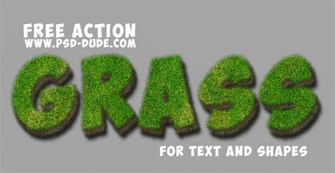 grass typography photoshop tutorial grass text photoshop free action psddude