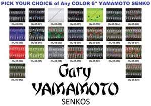 gary yamamoto senko color chart gary yamamoto senko 6 inch 9l soft plastic stick bait worm