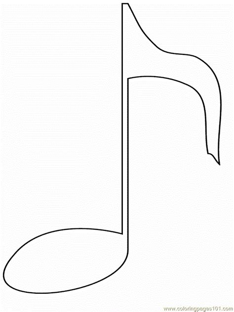 Free Coloring Pages Of Do Musical Notes Notes Coloring Page