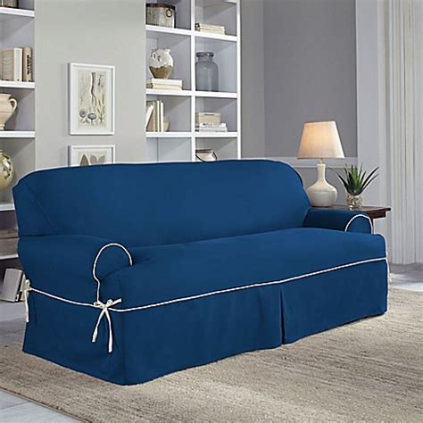 Buy Perfect Fit 174 Classic Twill T Sofa Slipcover In Navy Navy Sofa Slipcover