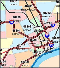 Michigan Zip Codes Map by Michigan Zip Code Map Including County Maps