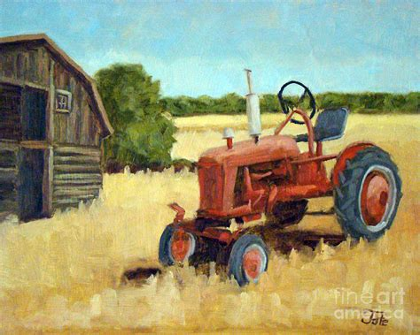 tractor painting bos tractor by tate hamilton