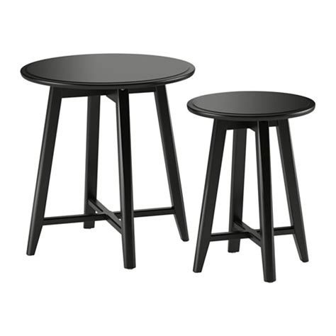 kragsta nest of tables set of 2 black ikea