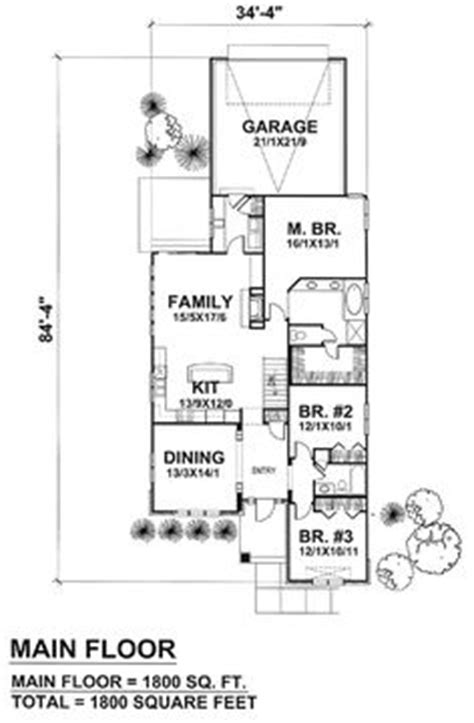 narrow kitchen floor plans 1000 images about house plans on pinterest narrow lot