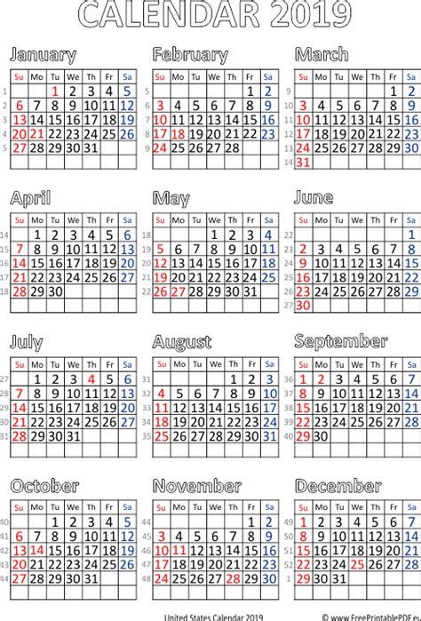 vector calendar  united states  printable