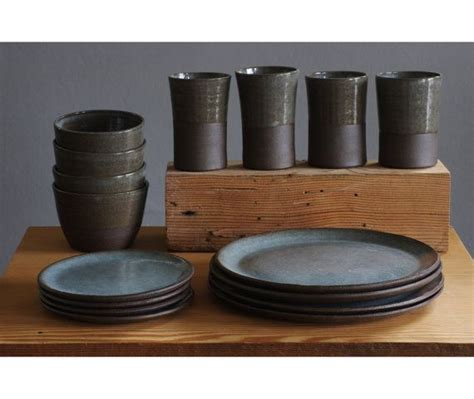 Handmade Pottery Table Ls - custom dish set 4 4 table setting by