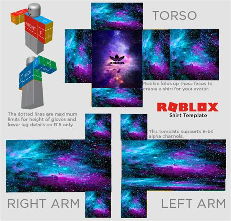 Roblox Galaxy Adidas Shirt Freetoedit Roblox Shirt Template Design