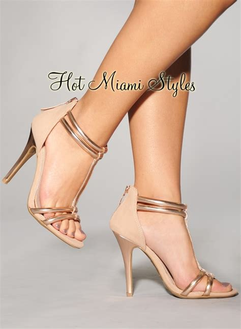 blush colored heels blush gold accent t high heel sandals