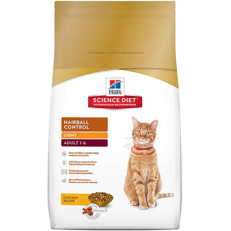 science diet light cat food hill s science diet hairball control light cat food