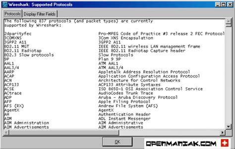 wireshark easy tutorial wireshark supported protocols