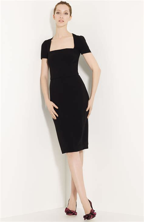 Dress Square Black dolce gabbana square neck dress in black lyst