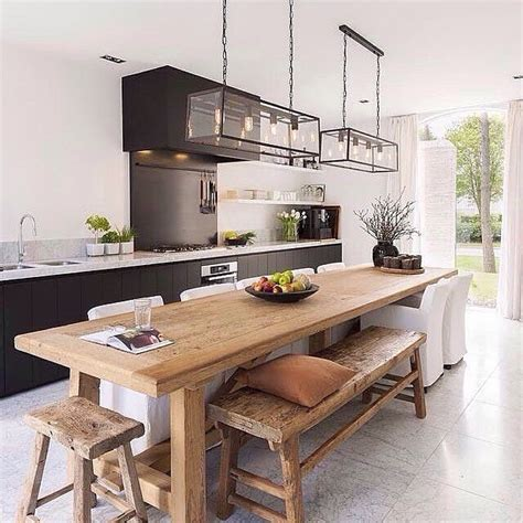 kitchen island and dining table this is your favourite kitchen on the immyandindi page in