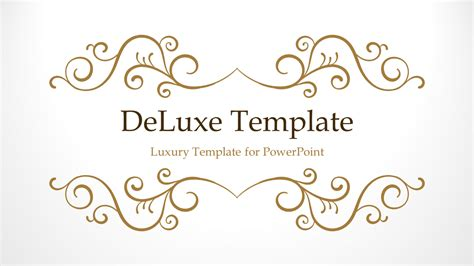 Deluxe Luxury Powerpoint Template Luxury Powerpoint Template